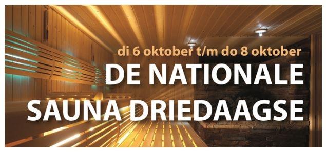 Nationale Sauna  3-daagse georganiseerd door SVB